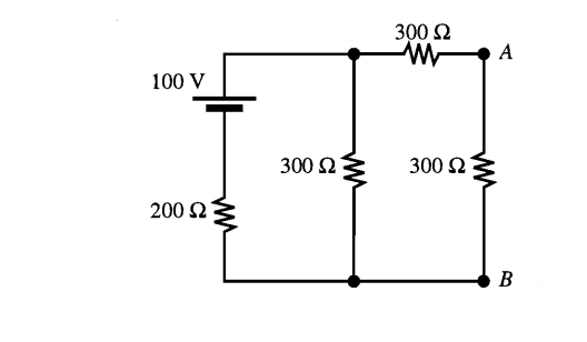 Image for Find the current through the 300 ohm resistor