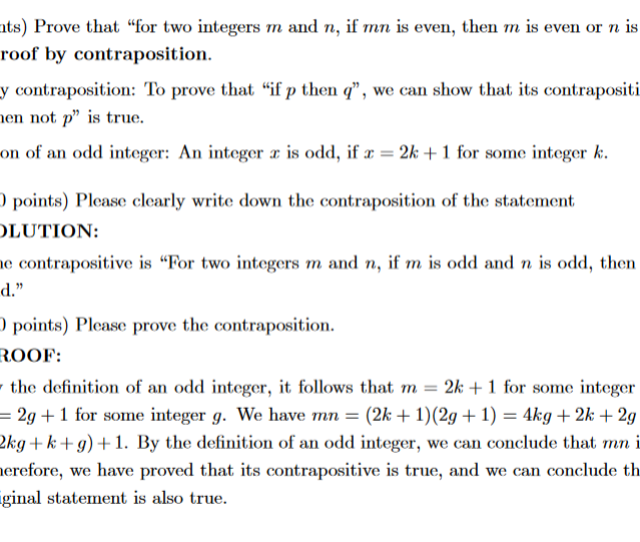 40 Points Prove That For Two Integers M And N If