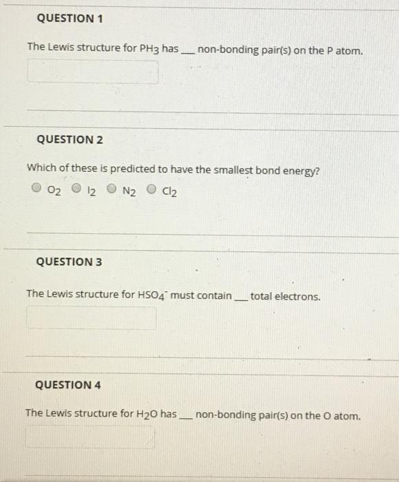 lewis dot diagram for ph3 scapula quiz solved question 1 the structure has non bon bonding pair s on