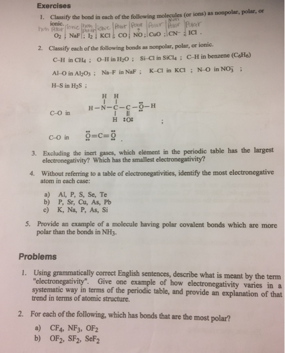 Nh3 Is Polar Or Nonpolar : polar, nonpolar, Solved:, Question, Complete, Having, Troub..., Chegg.com