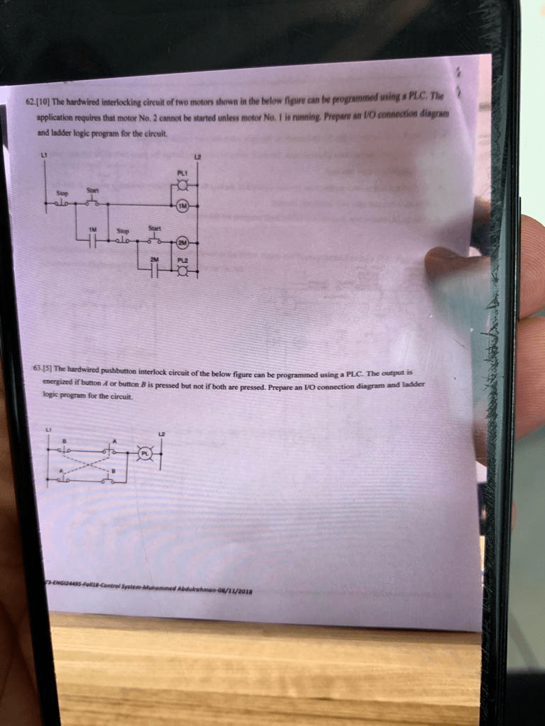 hight resolution of the 6210 the hardwired interlocking cireuit of two motors shown in