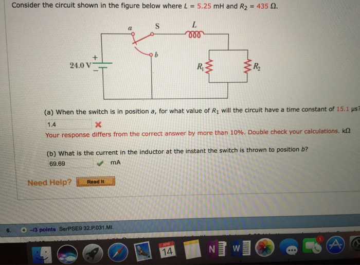 For Therc Circuit Given Below Determine The Time Constant And