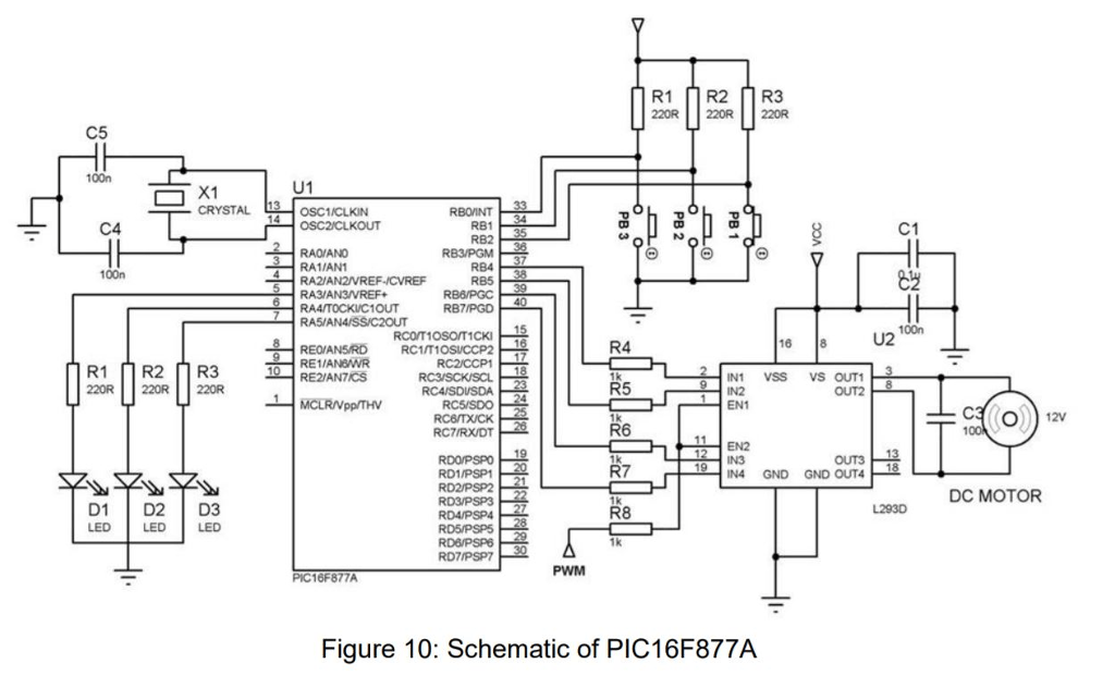 Solved: QUESTION 1 Figure 10 Shows Schematics Of PIC 16F87