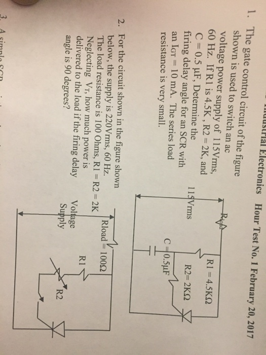 One The Circuit The Schematic Diagram Of The Analyzer Is Shown Here