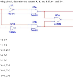 in the following circuit determine the outputs x y and z if a [ 1024 x 794 Pixel ]
