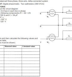 solved topic 4 balanced three phase three wire delta c 380 volts 2 phase 5 wires wiring diagram [ 1013 x 851 Pixel ]