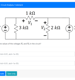 question 9 circuit analysis 5 element what are the values of the voltages vi [ 1024 x 786 Pixel ]