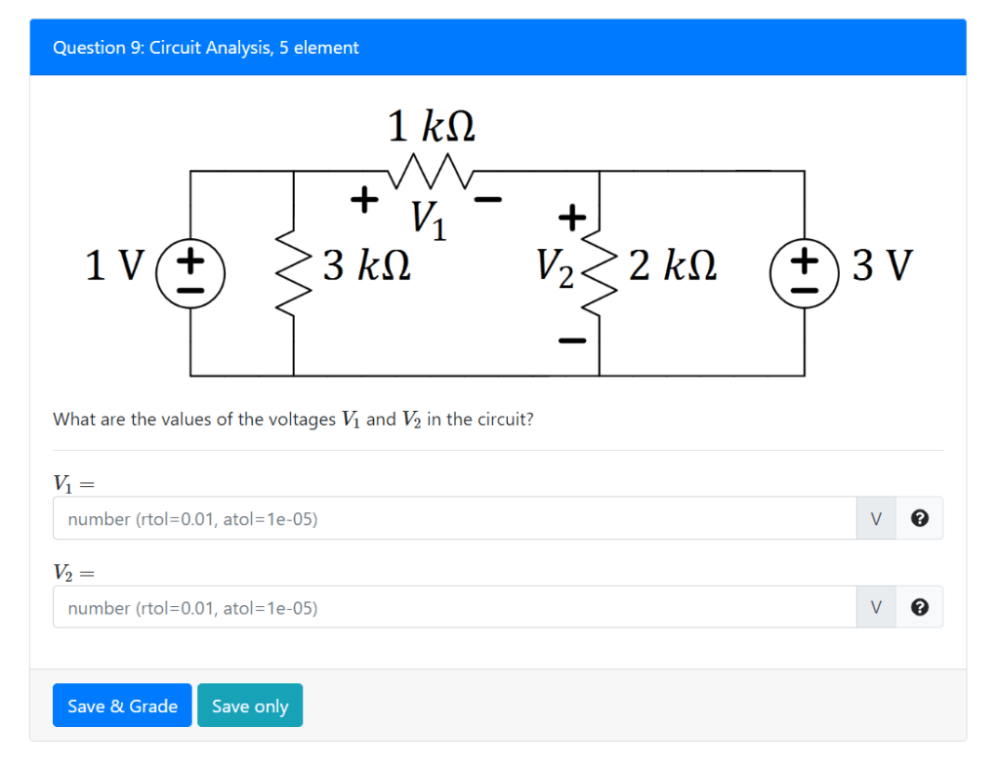 medium resolution of question 9 circuit analysis 5 element what are the values of the voltages vi