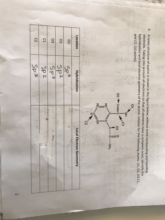 C2 Lewis : lewis, Solved:, Lewis, Structure, Aspirin, Shown, Fi..., Chegg.com