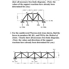 Truss Style Diagram 7 Way Flat Blade Trailer Wiring Solved Engr 101 Introduction To Engineering 1 For The W Warren Shown