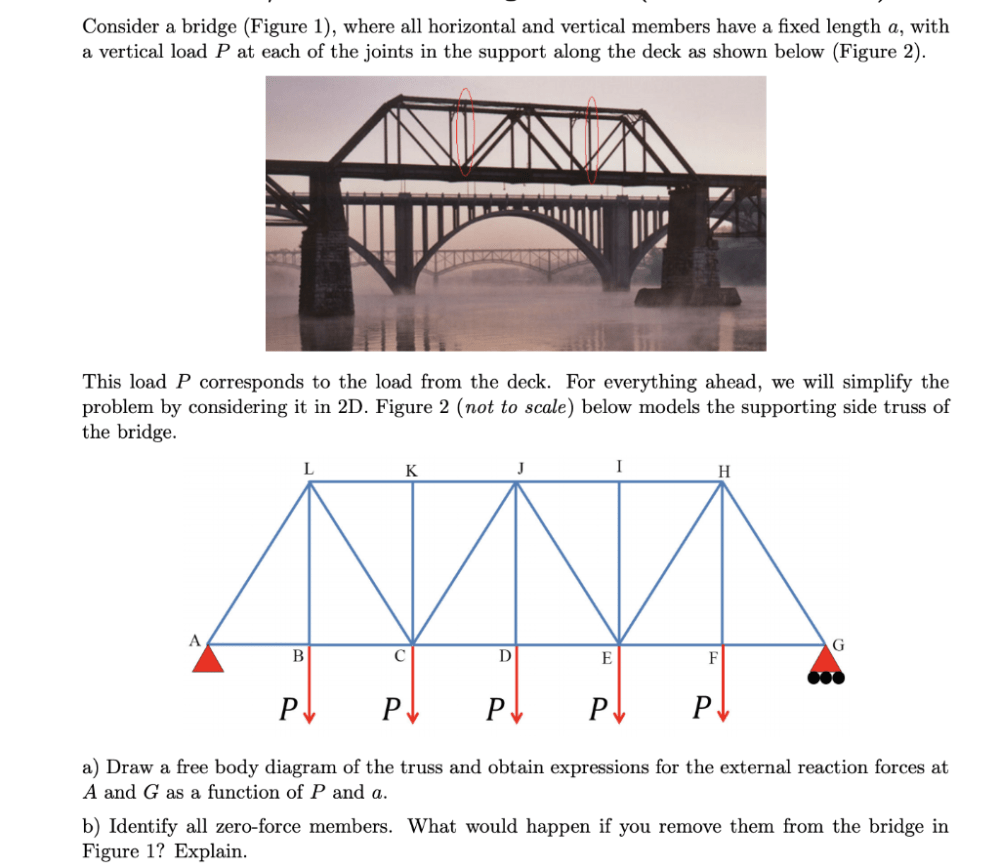 medium resolution of consider a bridge figure 1 where all horizontal and vertical members have a
