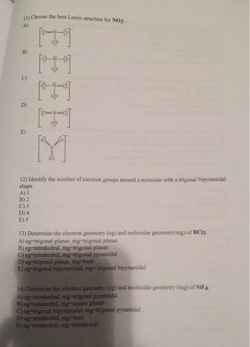 No3 2- Lewis Structure : lewis, structure, Solved:, Choose, Lewis, Structure, Chegg.com