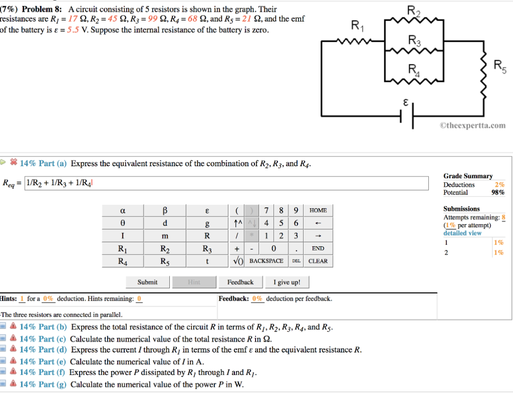 medium resolution of  problem 8 a circuit consisting of 5 resistors is shown in