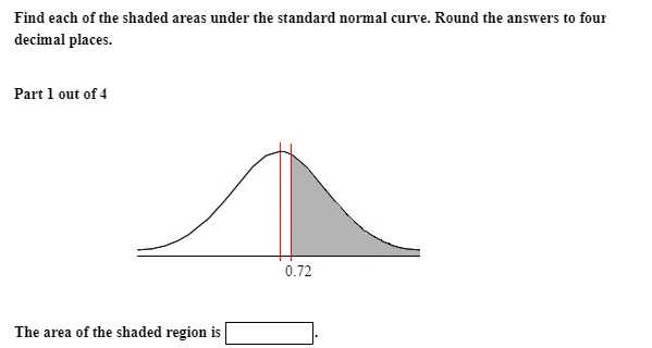 Solved: Find Each Of The Shaded Areas Under The Standard N