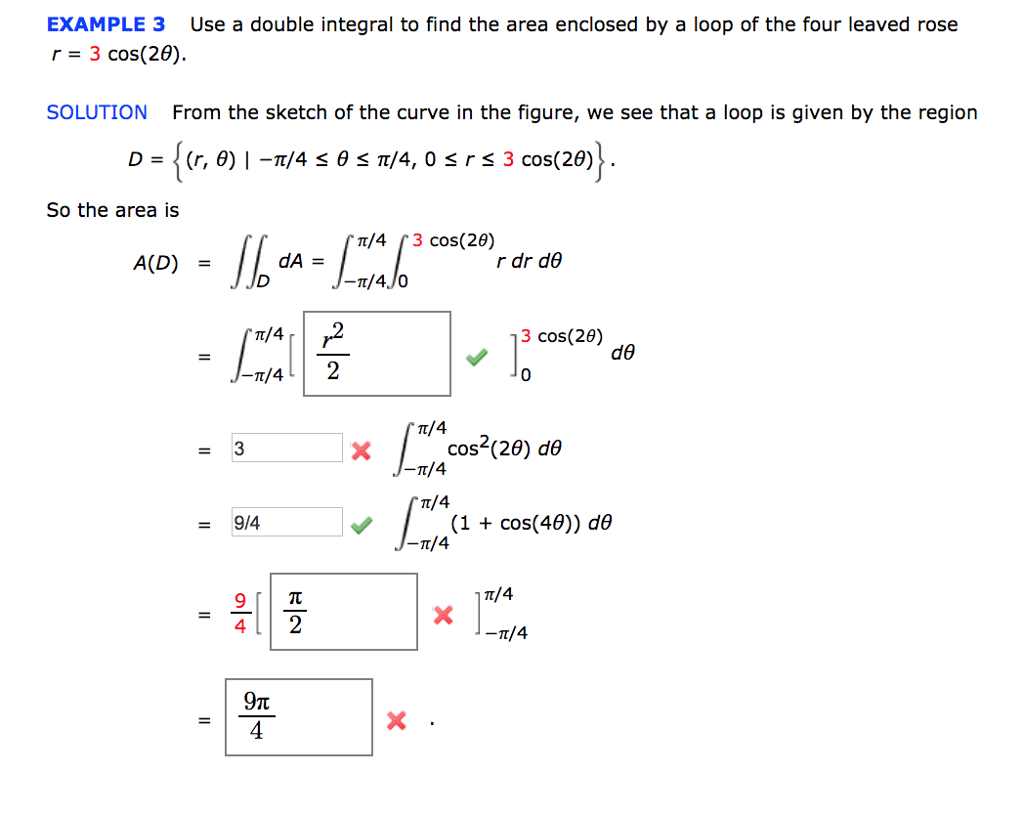 Solved Example 3 Use A Double Integral To Find The Area E