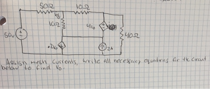 Solved: Assign Mesh Currents, Write All Necessary Equation