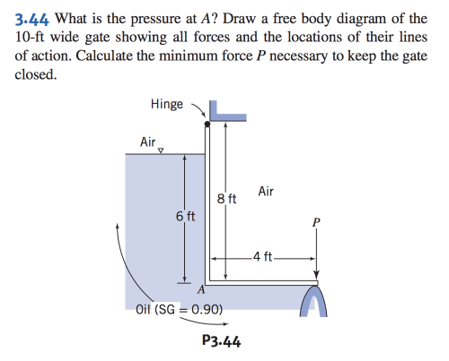 small resolution of 3 44 what is the pressure at a draw a free body diagram of the 10
