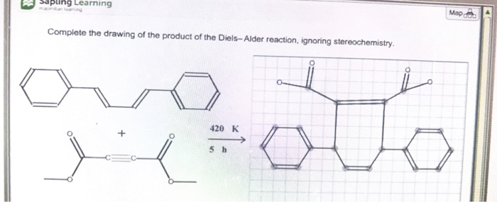 Solved: Complete The Drawing Of The Product Of The Diels-A