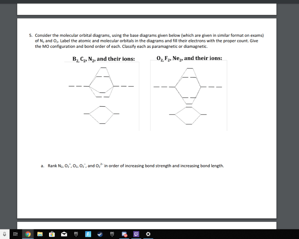 medium resolution of consider the molecular orbital diagrams using the base diagrams given below which