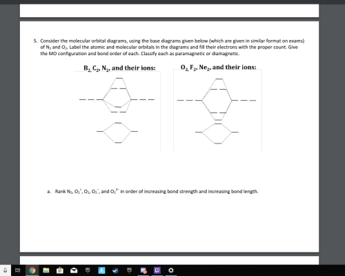 small resolution of consider the molecular orbital diagrams using the base diagrams given below which