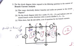 Solved:  For The Circuit Diagram Below Respond To The Fol