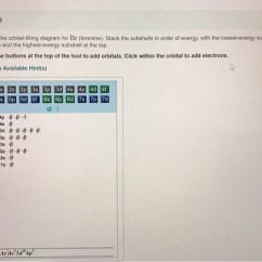 Show The Orbital Filling Diagram For Bromine Logic Gates Timing Solved Part D Br Stack