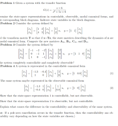 problem 1 given a system with the transfer function g s determine the state [ 1024 x 1021 Pixel ]