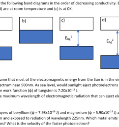 4 pts order the following band diagrams in the order of decreasing conductivity  [ 1024 x 787 Pixel ]