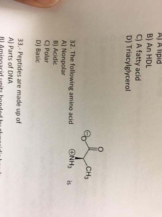 Nh3 Is Polar Or Nonpolar : polar, nonpolar, Solved:, Lipid, Fatty, Triacylgly..., Chegg.com