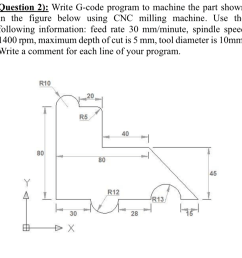 question 2 write g code program to machine the part shown in the [ 958 x 974 Pixel ]