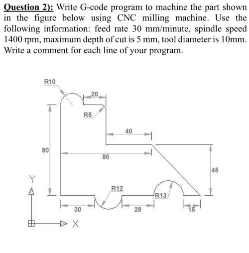 small resolution of question 2 write g code program to machine the part shown in the