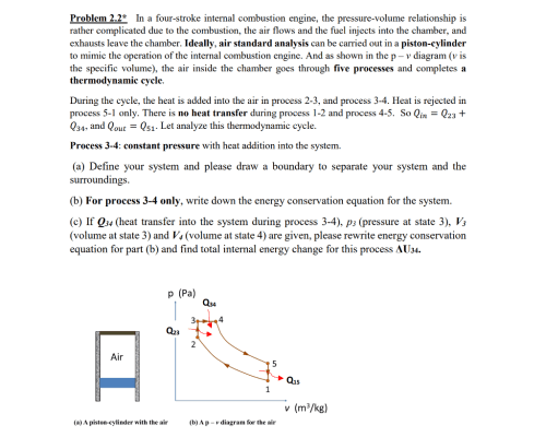 small resolution of problem 2 2 in a four stroke internal combustion engine the pressure volume