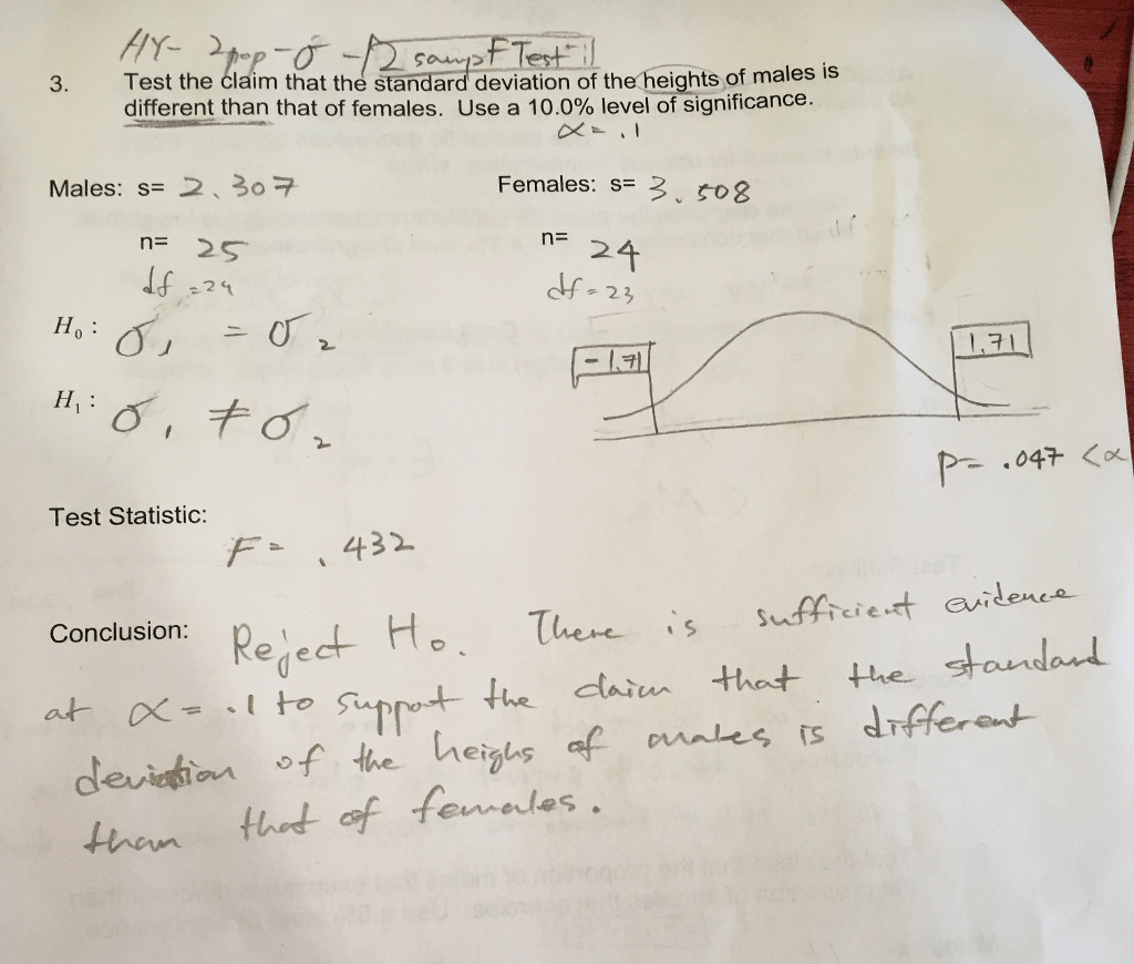 hight resolution of hr 3 test the claim that the standard deviation of the heights of males