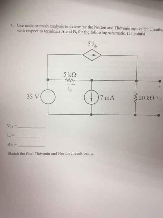 In The Following Circuit A Use Nodal Analysis Cheggcom