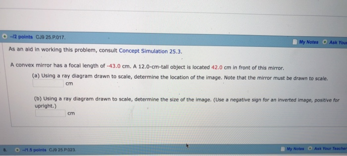 mirror ray diagram simulation free tree powerpoint solved 12 points cj9 25 p 017 as an aid in working this problem