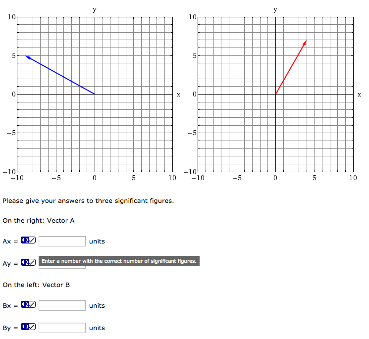 Find the X and Y components of each graph