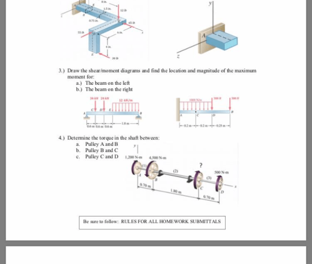 Question Only Question 2 Draw The Appropriate Fbds And Find The Equivalent Forces And Moments At The Secti