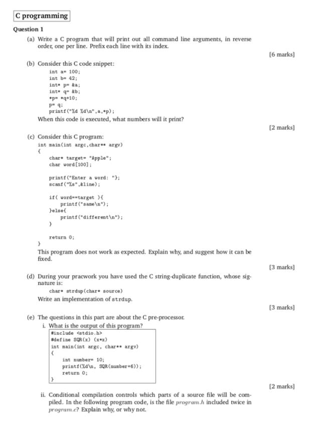 C programming Question27 (a) Write a C program that  Chegg.com