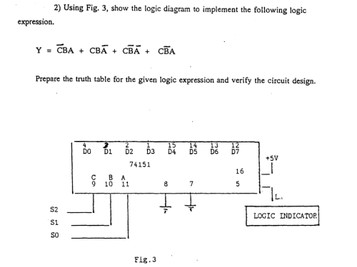 small resolution of 3 show the logic diagram to implement the following logic
