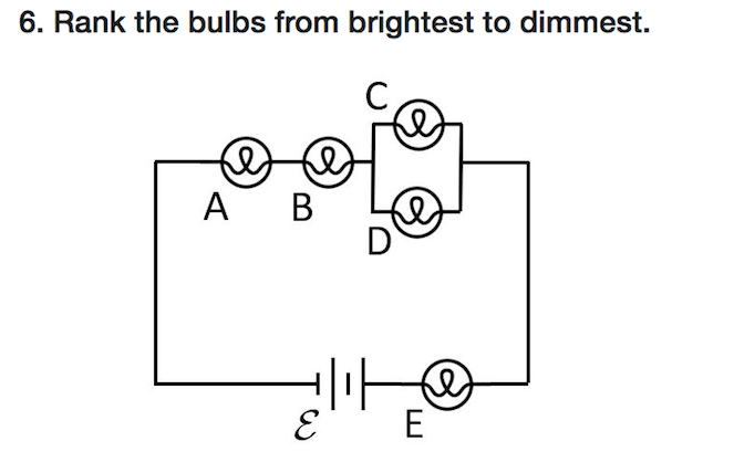 Solved: 6. Rank The Bulbs From Brightest To Dimmest