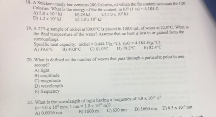 Solved: A Snickers Candy Bar Contains 280 Calories, Of Whi