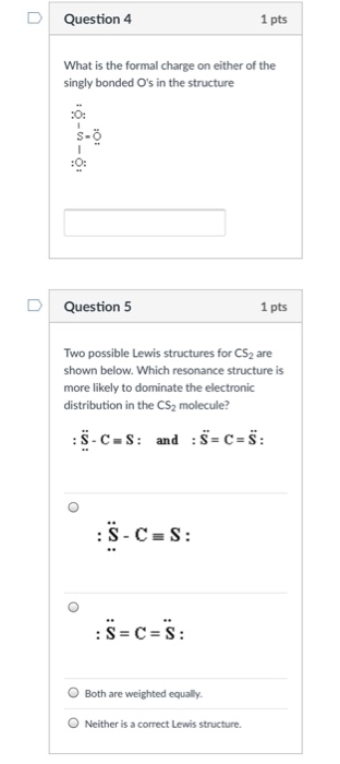 The Lewis Structure For Cs2 Is : lewis, structure, Solved:, Question, Formal, Charge, Ei..., Chegg.com