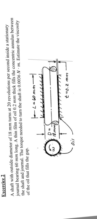 A Shaft With Outside Diameter Of 18 Mm Turns At 20