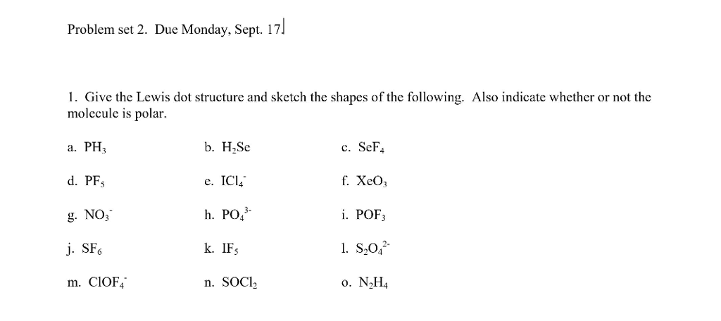 electron dot diagram for ph3 mallory unilite wiring solved problem set 2 due monday sept 17 1 give the lewis