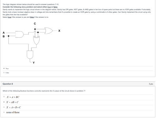 small resolution of the logic diagram shown below should be used to answer questions 7 10 consider