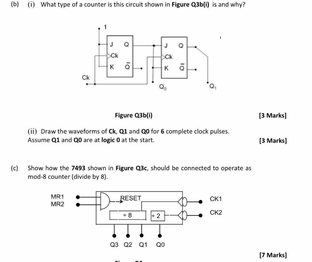 medium resolution of  b i what type of a counter is this circuit shown in