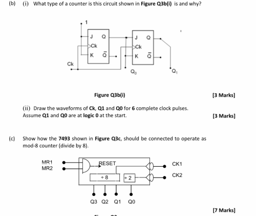 small resolution of  b i what type of a counter is this circuit shown in