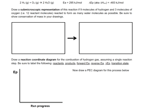small resolution of 2 h2 g o2 g 2 h2o g ea 295 now draw a pec diagram