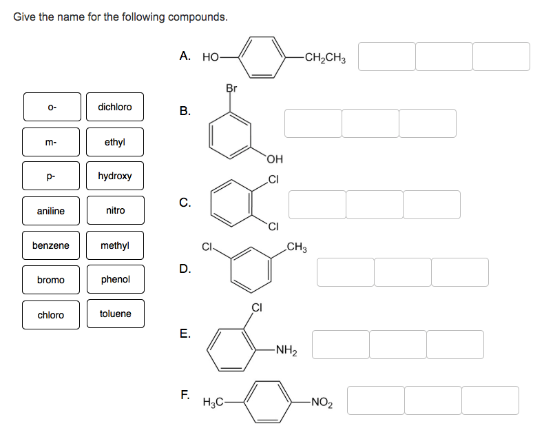 Solved: Give The Name For The Following Compounds A. HO CH