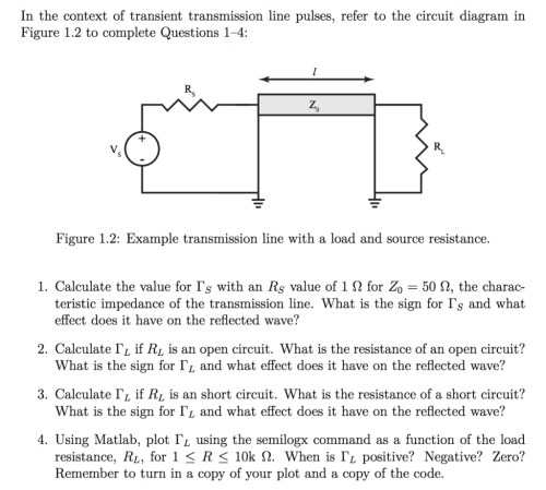 small resolution of in the context of transient transmission line pulses refer to the circuit diagram in figure